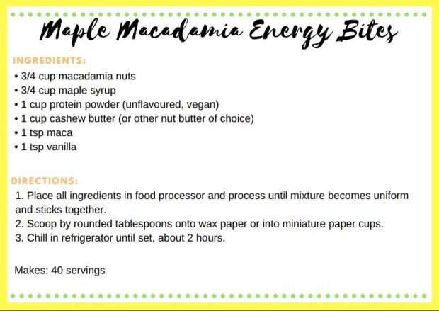 maple maca energy bites